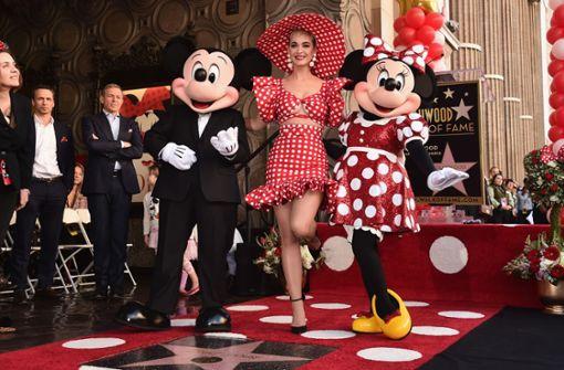 Mit Heidi Klum und Katy Perry auf dem Walk of Fame