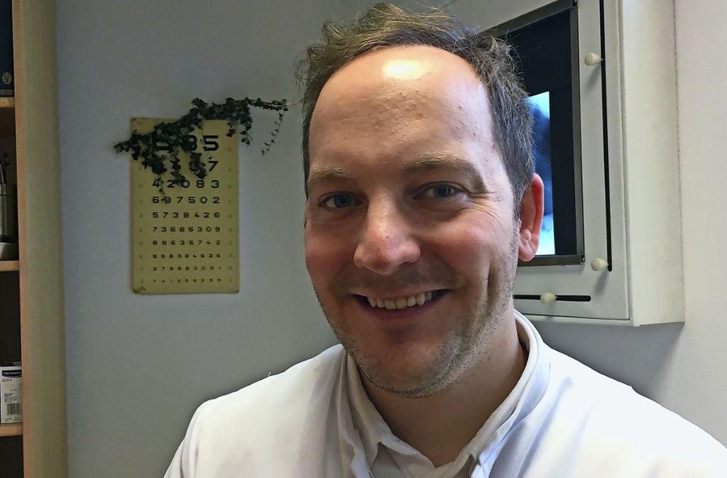 Philipp Schulze ist in Möhringen Hausarzt in Weiterbildung. Foto: Felicitas Eglof