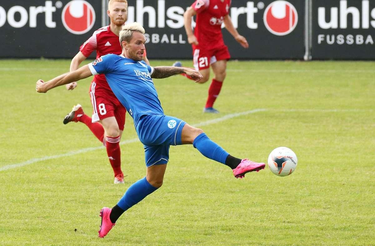 In der fünften Liga eine Klasse für sich: Der offensive Mittelfeldspieler Markus Obernosterer. Foto: Baumann