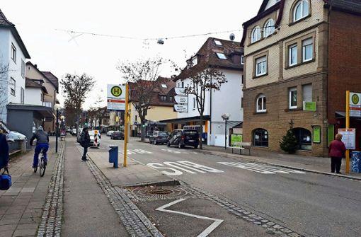 Bahnhofstraße vor der Kehrtwende