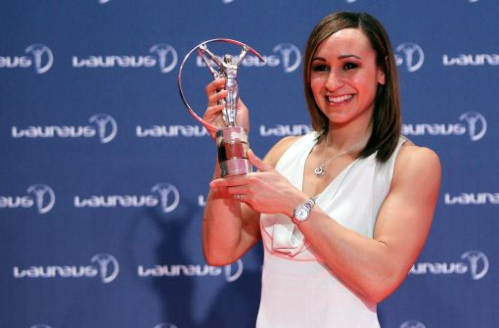 Der Preis der Weltsportlerin des Jahres ging an die britische Mehrkämpferin Jessica Ennis. Die 27-Jährige hatte 2012 den Olympiasieg im Siebenkampf geholt.  Foto: dpa