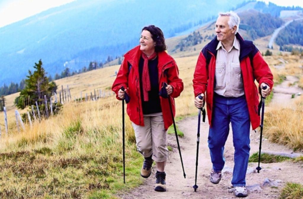 Wanderungen könnten künftige Aktivitäten der Rentner sein. Foto: Archiv Fotolia