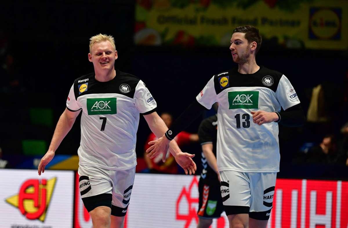 Hoffnungsträger im Handball: Wiencek (li.) und Pekeler Foto: imago/Revierfoto