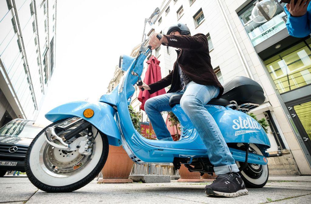 Ein Projekt der Stadtwerke: Der E-Roller Stella. Foto: Lichtgut/Leif Piechowski