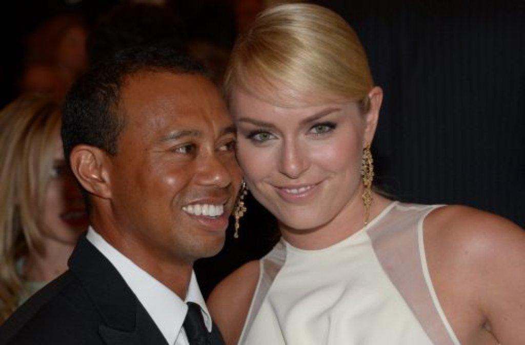 Kein Paar mehr: Tiger Woods und Lindsey Vonn Foto: dpa