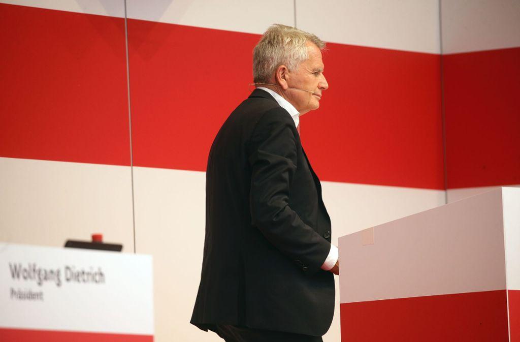Abgang des VfB-Präsidenten: Wolfgang Dietrich ist zurückgetreten. Foto: Baumann