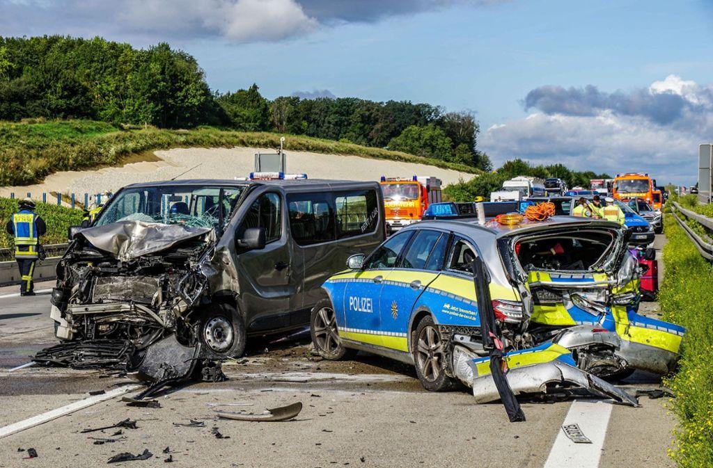 Ein herannahender Autofahrer erkannte die Situation zu spät.   Foto: SDMG