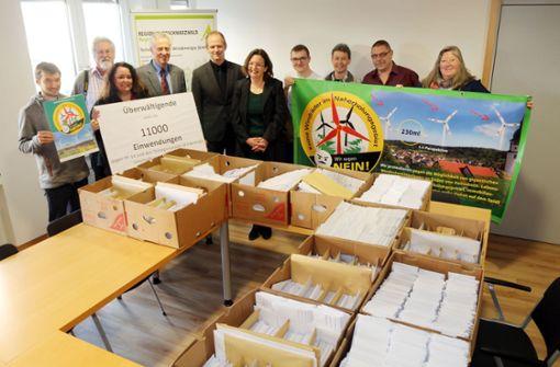 11 000 Briefe gegen die Windkraft