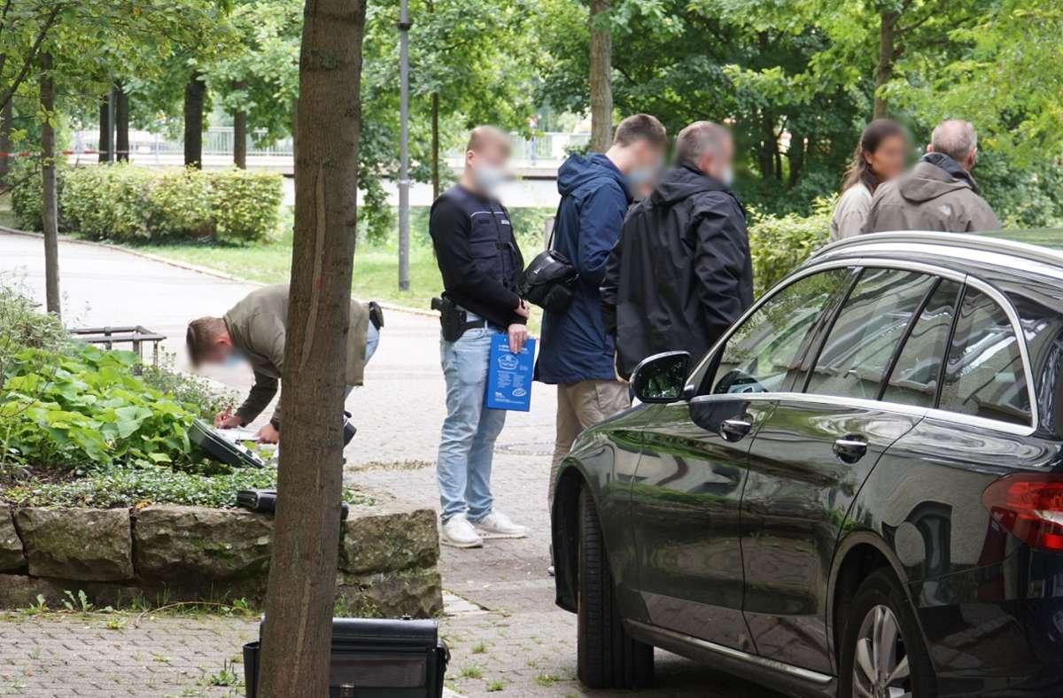 Am Tatort ermittelte die Polizei. Foto: SDMG/SDMG / Gress