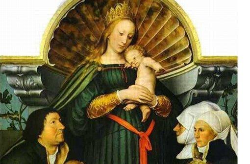 Ein Ausschnitt aus Holbeins Schutzmantelmadonna Foto: Kunsthalle Würth
