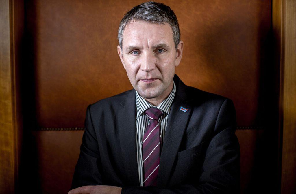 Die AfD, die in Thüringen vom Wortführer des rechtsnationalen Flügels, Björn Höcke, geprägt wird, sprang von 10,6 auf 23,4 Prozent und wurde damit zweitstärkste Kraft. Foto: dpa/Michael Kappeler