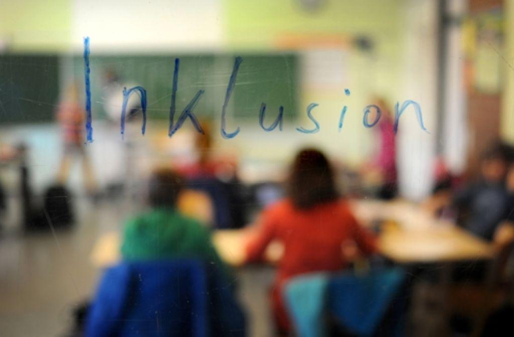 Der Südwesten hinkt im Bundesvergleich beim Unterricht für behinderte Kinder an der Regelschule hinterher. Foto: dpa