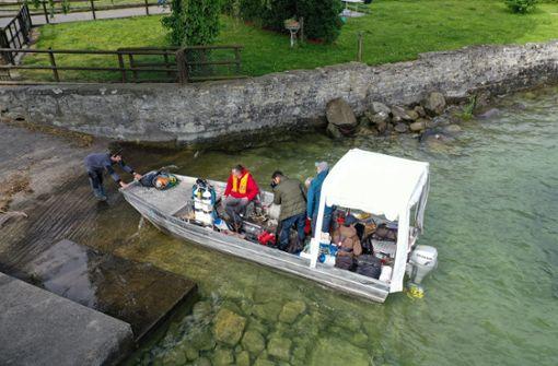 Rätselhafte Steinhügel am Grund des Bodensees