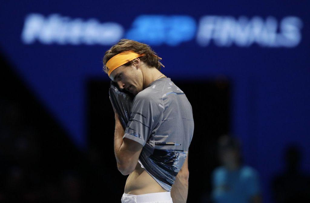Für Alexander Zverev war bei den ATP-Finals im Halbfinale Endstation. Foto: AP/Kirsty Wigglesworth