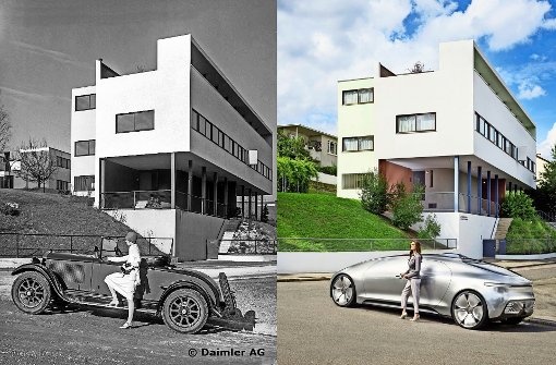 Einfach schön: Frau, Auto, Haus