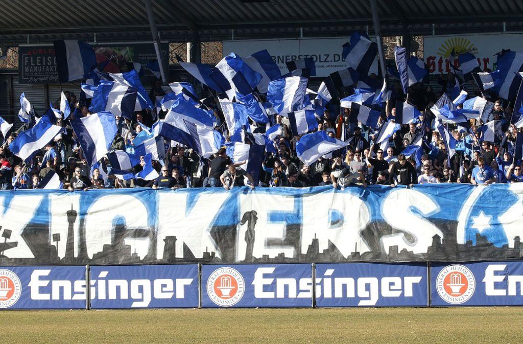 Die Stuttgarter Kickers müssen ihr Spiel gegen Bissingen absagen. Foto: Pressefoto Baumann/Hansjürgen Britsch