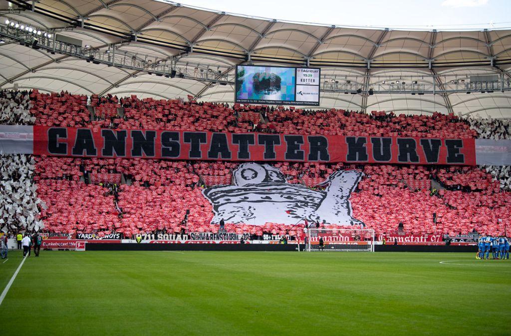 Der VfB kann sich auf seine Fans verlassen. Womöglich ein entscheidender Faktor im Rennen um den Klassenerhalt. Wo landet der VfB am Saisonende? Foto: dpa