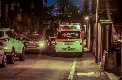 Rettungskräfte am Ort des Geschehens in der Tatnacht Foto: SDMG