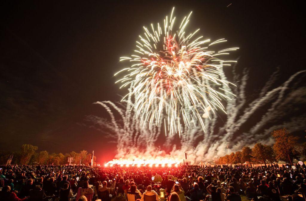 Drei Tage locken internationale Feuerwerke die Besucher nach Ostfildern.. Foto: