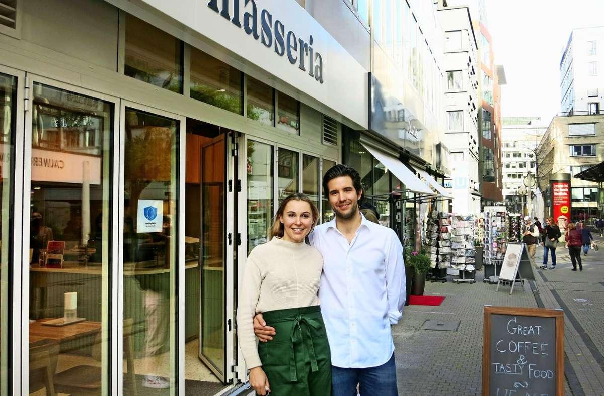Caroline und Jérôme de Sadeleer haben ihr erstes Deli eröffnet. Foto: Matthias Ring