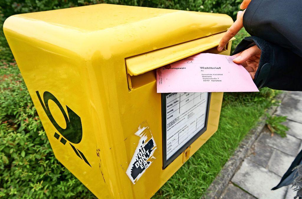 Der Bundeswahlleiter rät,  den Wahlbrief spätestens am dritten Werktag vor der Wahl abzusenden, damit er rechtzeitig ankommt. Foto: Schatz