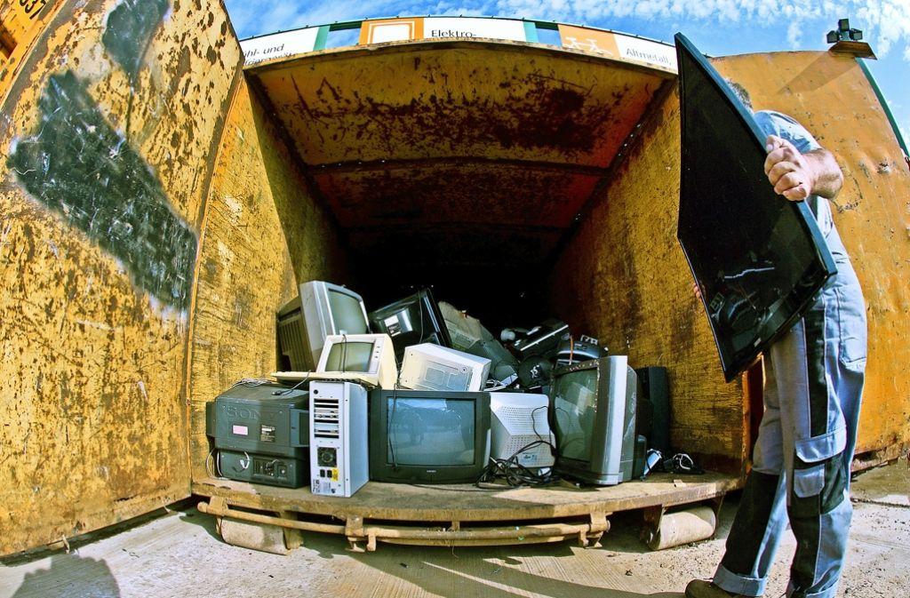 Mehr  alte Elektrogeräte sollen wiederverwertet werden. Foto: mag