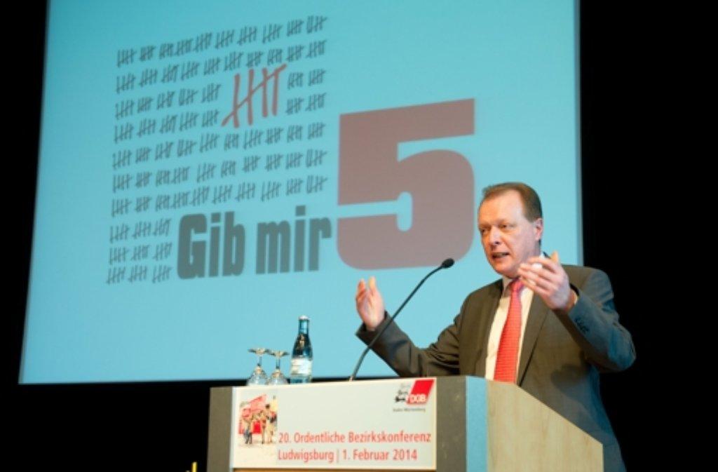 Der 47 Jahre alte Nikolaus Landgraf ist als DGB-Landeschef bestätigt worden. Foto: dpa