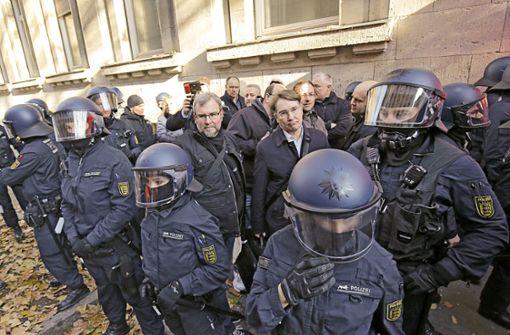 Tumulte vor dem Landesarbeitsgericht