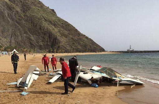 Verletzte bei Notlandung an Strand