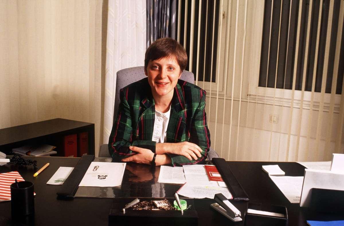 Ihr erstes Ministeramt: Angela Merkel als Bundesministerin für Frauen und Jugend im Jahr 1991. Foto: imago