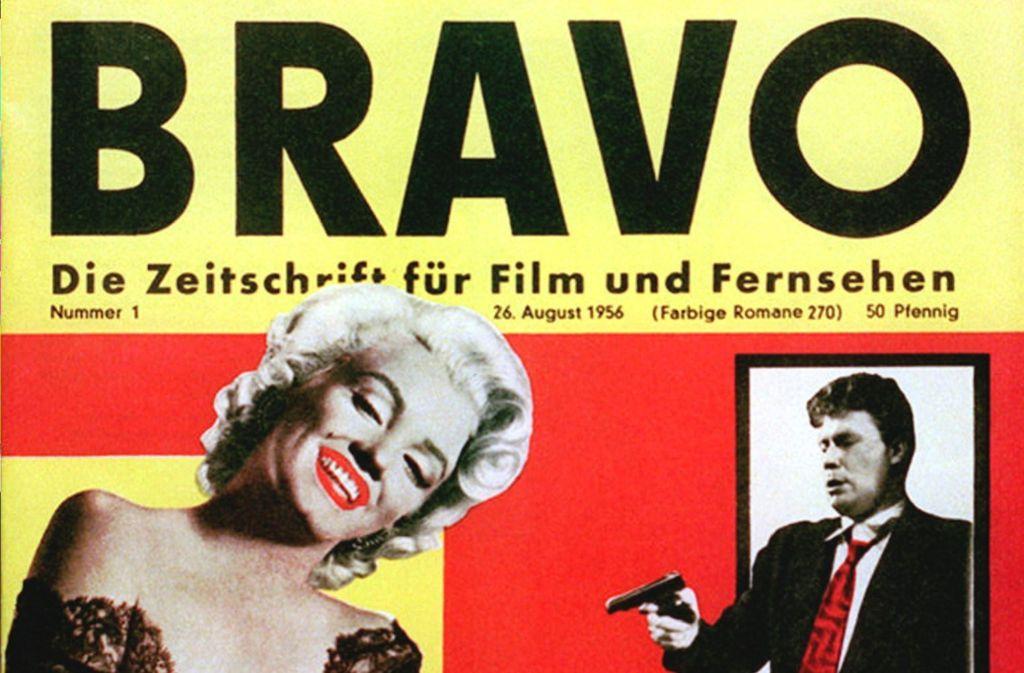 """Cover der ersten """"Bravo"""" vom 26. August 1956 mit Marylin Monroe. Foto: Bauer Media Group/Bravo/dpa"""