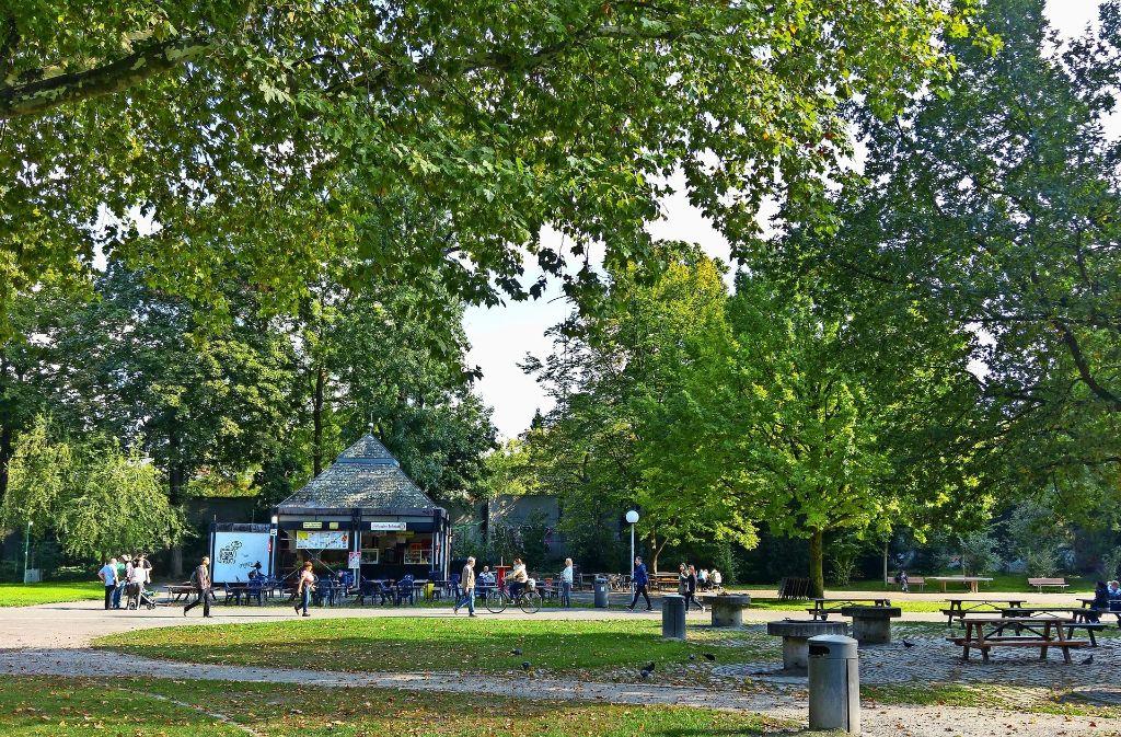 Wenn sich Stadt und Land nicht doch noch einigen, wird der Kiosk am Grillplatz schon in wenigen Wochen verschwunden sein, und zwar vorerst ersatzlos. Foto: Jürgen Brand