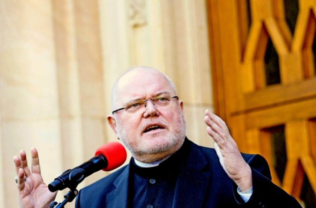 Der neu gewählte Vorsitzende der Deutschen Bischofskonferenz: Kardinal  Reinhard Marx in Münster Foto: dpa
