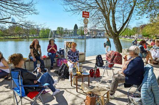 Kritisches Kaffeekränzchen  am See in Böblingen