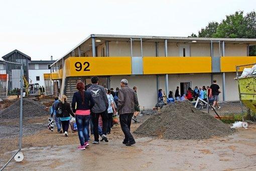 Die ersten 40 Flüchtlinge sind eingezogen