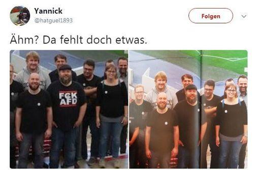 Anti-AfD-Foto löst unterschiedlichste Reaktionen aus