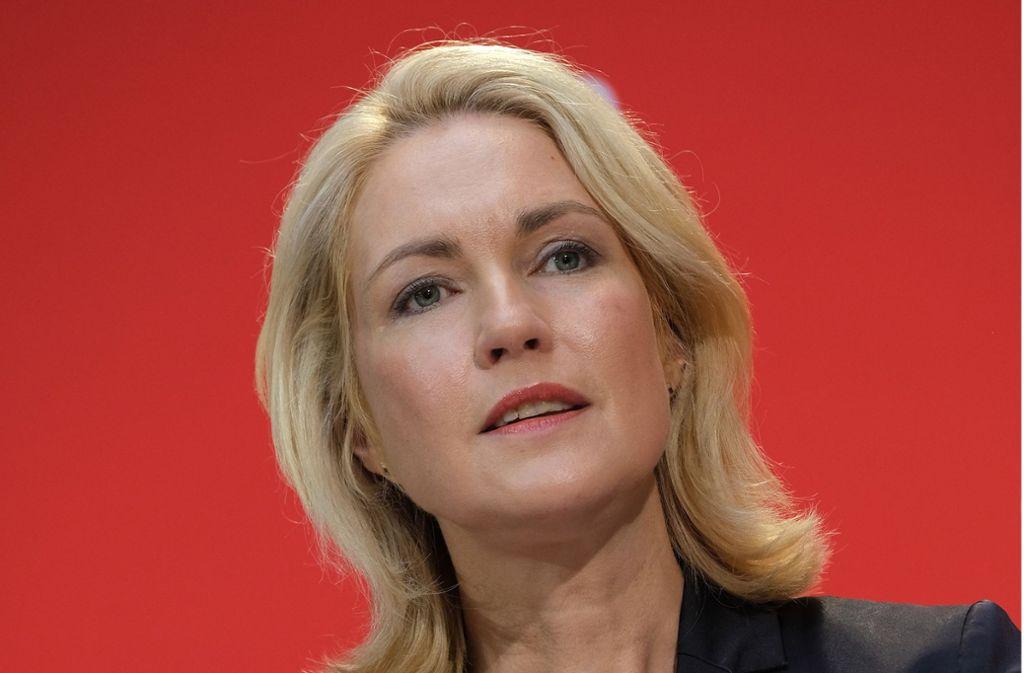 Manuela Schwesig hat den SPD-Vorsitz niedergelegt. Foto: Getty Images