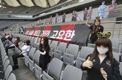 Südkoreas Fußballclub entschuldigt sich für Sexpuppen im Stadion