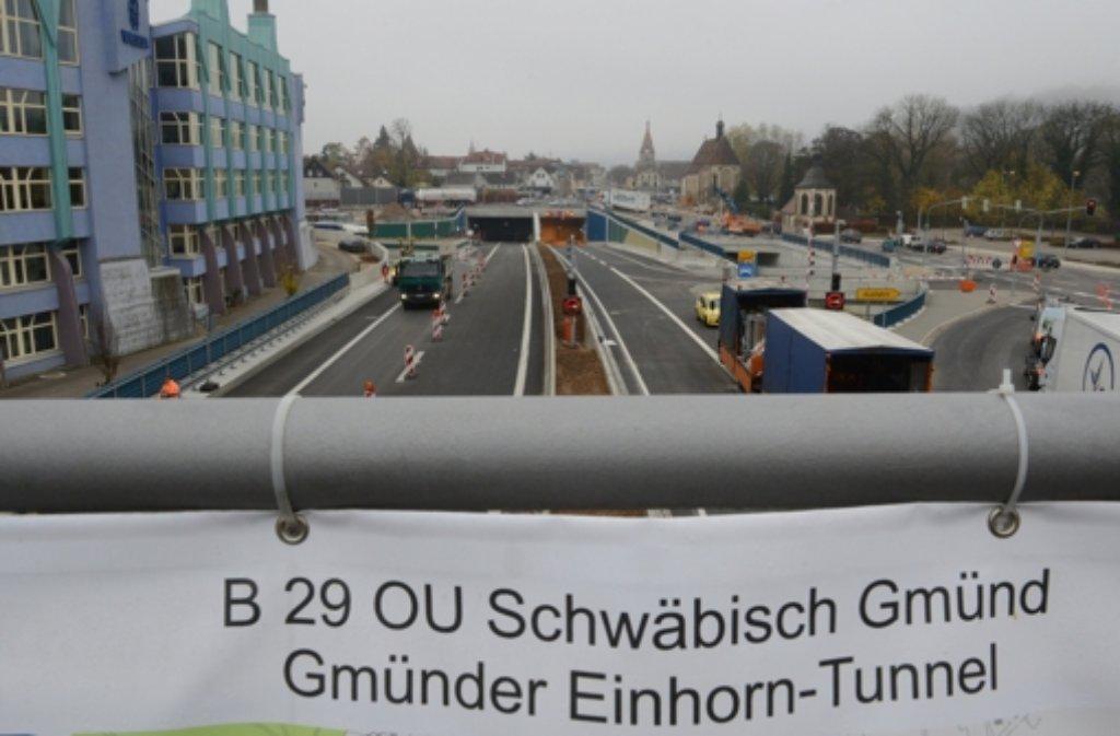 Die Bundesstraße 29 wird auf vier Kilometern Länge unterirdisch geführt. Foto: dpa