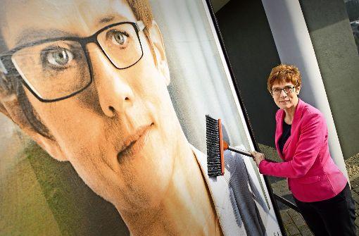 Die Merkel  von der Saar muss bangen