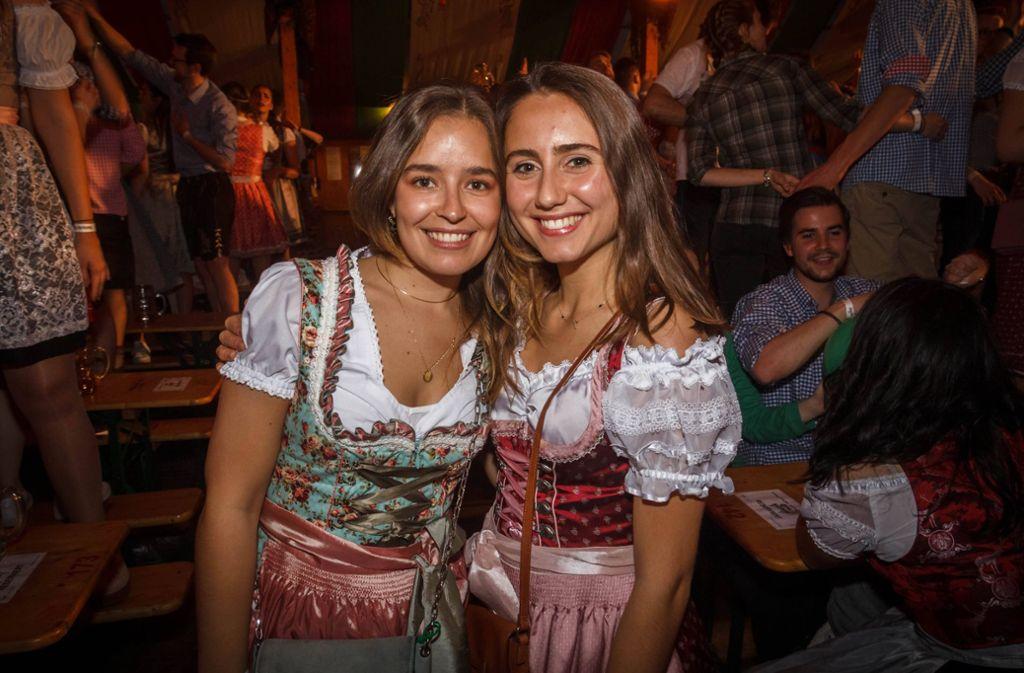 Dirndlparade beim Wasenwirt: Hier feierten die Studenten. Foto: 7aktuell.de/Daniel Boosz