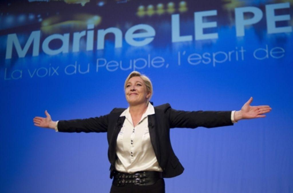 Am Mittwoch trifft sich Front-National-Chefin Le Pen mit dem Rechtspopulisten Wilders. Foto: EPA