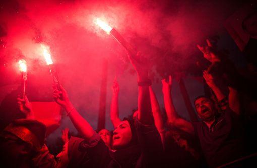 Erdogan-Anhänger feiern ihren Präsidenten
