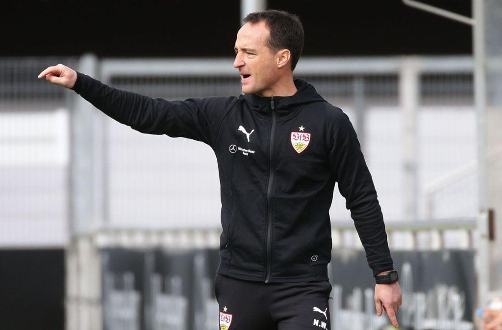 Nico Willig gibt jetzt bei den VfB-Profis die Richtung vor. Bisher trainierte er die A-Junioren der Stuttgarter. Foto: Baumann