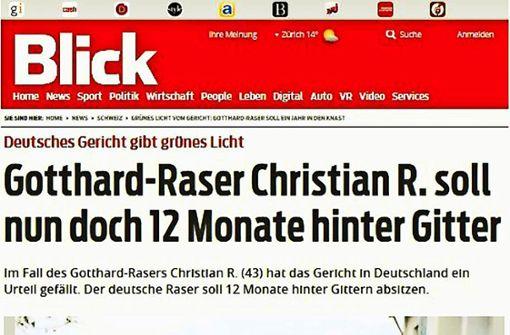 Der Gotthard-Raser kommt ins Gefängnis