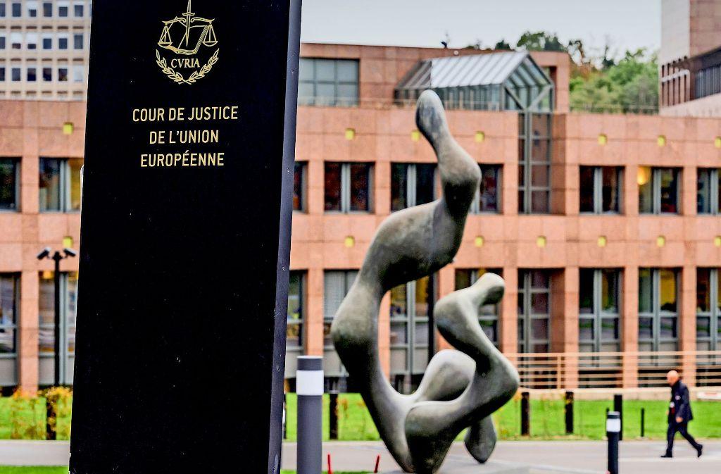 Der Gerichtshof der EU – hier könnte der Abgasstreit zwischen Berlin und Brüssel landen. Foto: AP