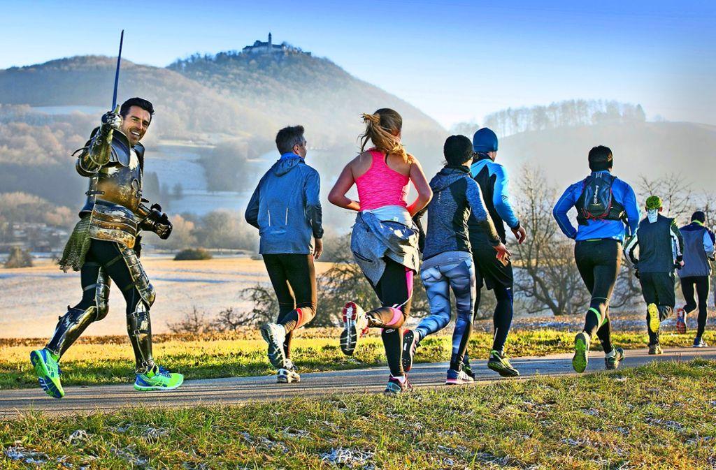 Der Marathonläufer Christopher Greenaway(links)  kämpft dafür, den Parkrun auch in Stuttgart zu etablieren. Dafür scheint er gut gerüstet zu sein. Foto: Rudel