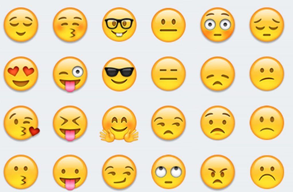 Smiley-Emojis symbolisieren Gefühle Foto: dpa-tmn