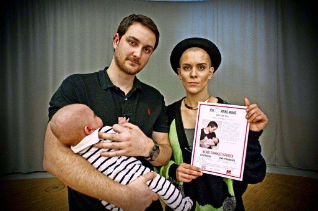 Eva Fidlers Schwester, ihr Mann David und ihre Tochter Emilia. Foto: Lichtgut/Max Kovalenko