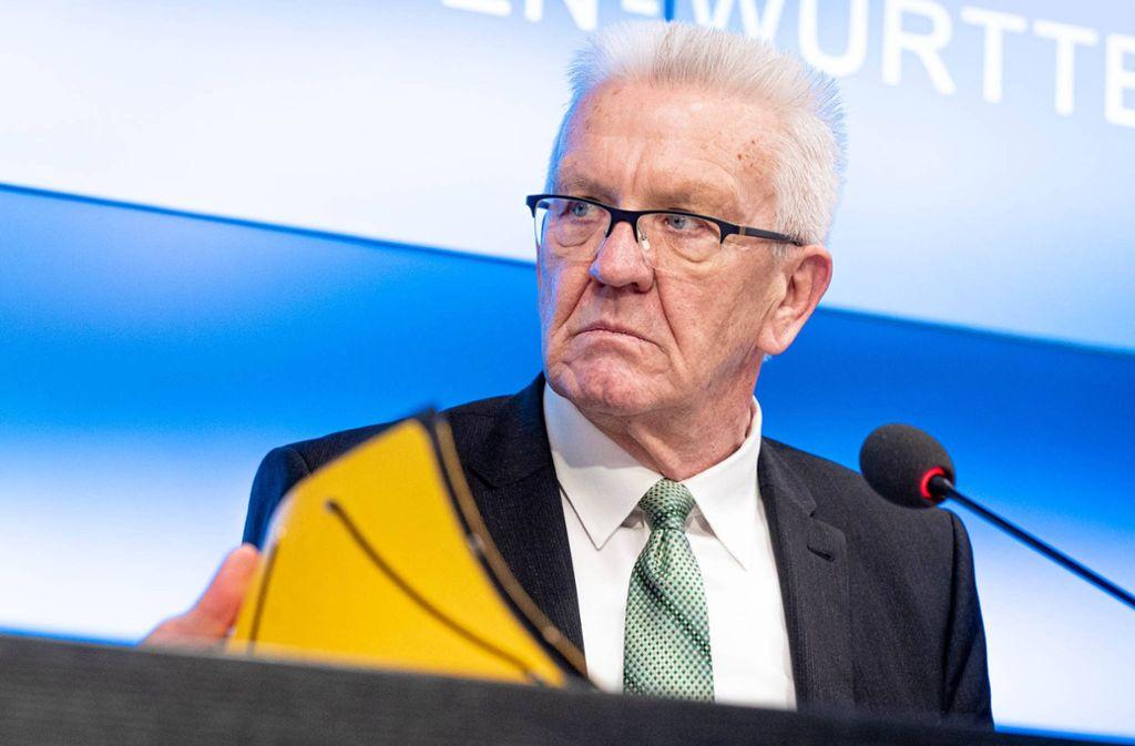 Ministerpräsident Kretschmann  hat die Regelungen zur Ladenöffnung verteidigt. Foto: 7aktuell.de/Marc Gruber/7aktuell.de | Marc Gruber